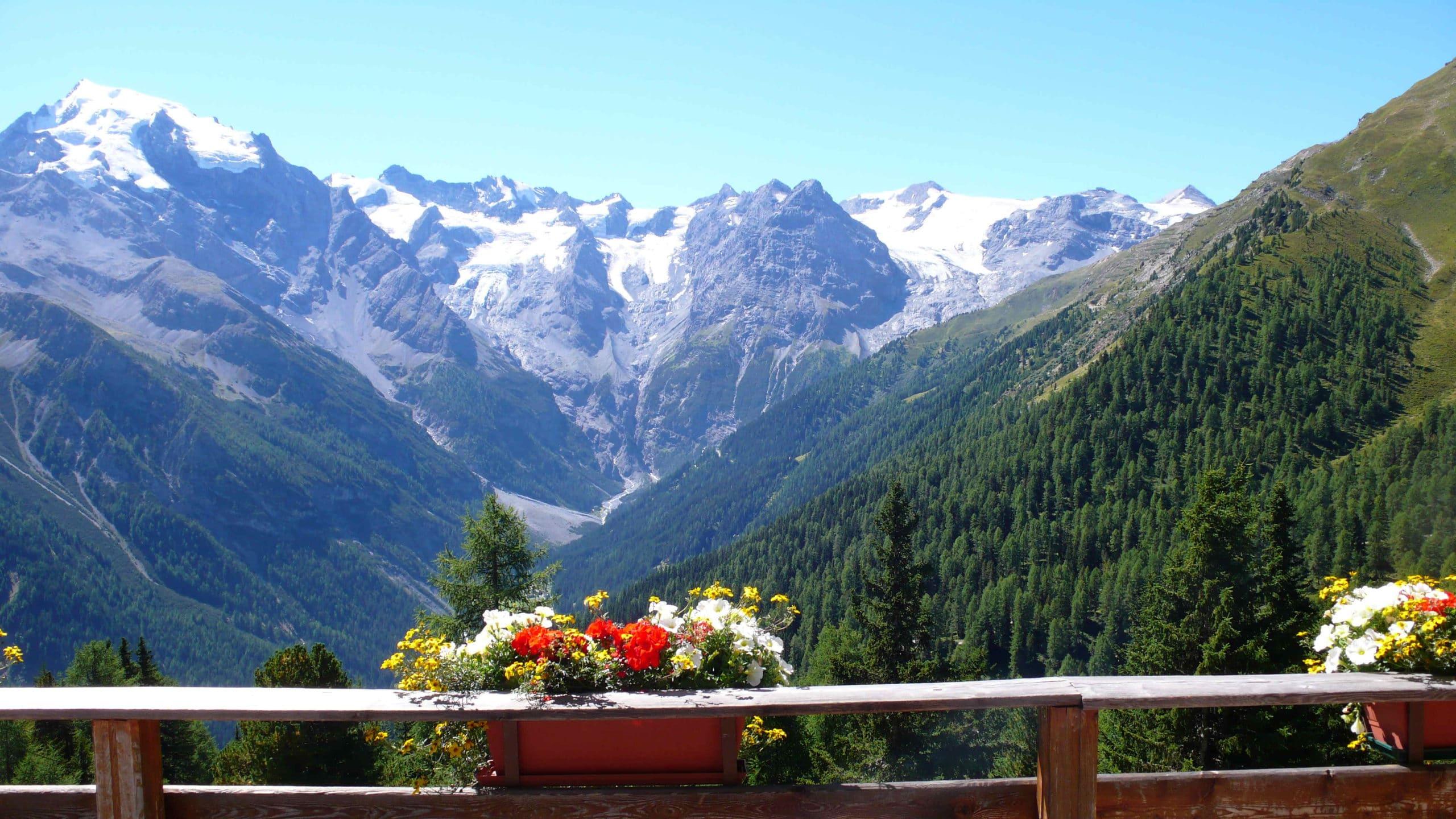 alpen bergen fotobehang