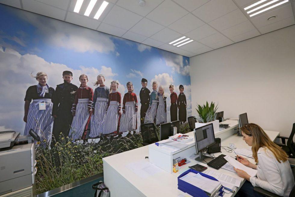 Fotobehang in kantoor Molenaar & Zwarthoed Adviseurs