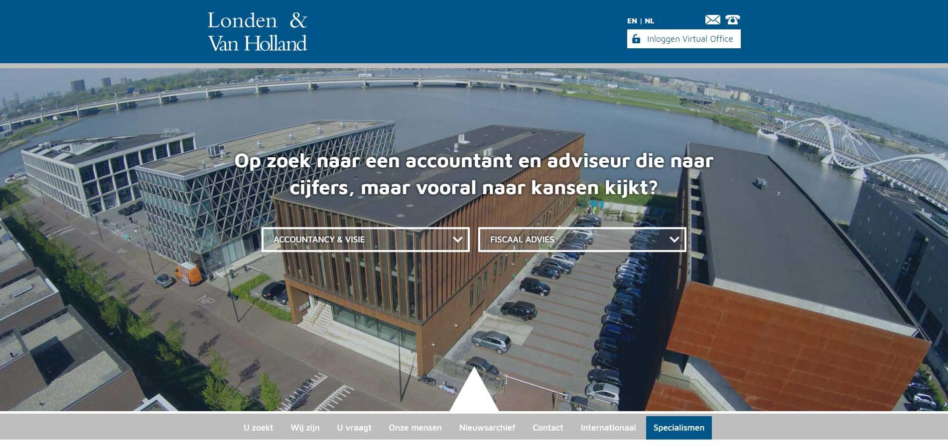 Website Londen & van Holland